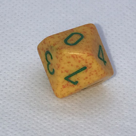 Set 7 dés POLY Bleu et Blanc (Nebula/Chessex)