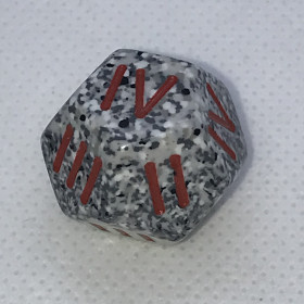 D4 Bleu et Argent (Mother of Pearl/Chessex)