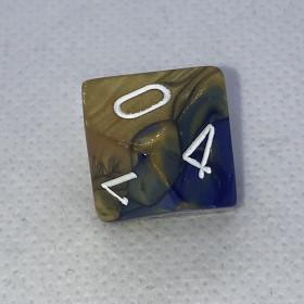 D4 Vert et Argent (Lustrous/Chessex)