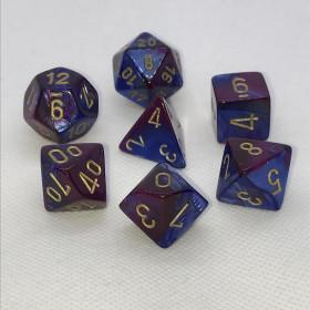D4 Bleu royal et Or (Scarab/Chessex)
