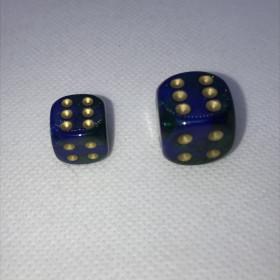 D10 ROUGE/BLANC et OR (Gemini/Chessex)