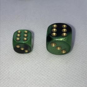 D6 VERT/ACIER et BLANC (Gemini/Chessex)