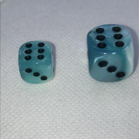 D20 VERT/ACIER et BLANC (Gemini/Chessex)