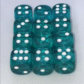 Double D12 VERT et BLANC (Spéciaux/Chessex)