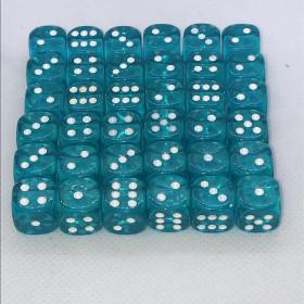Double D12 TRANSPARENT et ROUGE (Spéciaux/Chessex)