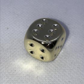 Dés à 6 faces (D6) Plaqué OR (Métal/Chessex)