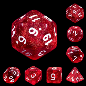 D3 taille 16mn BLEU DUSTY  et OR (Opaque/Chessex