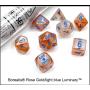 Dés Signature - Borealis Luminary - Rose Doré - Bleu clair- Chessex