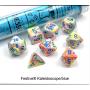 Dés Signature - Festive - Kaleidoscope - Bleu - Chessex