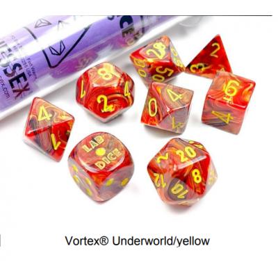 Dés Signature - Vortex Underworld - Jaune  - Chessex