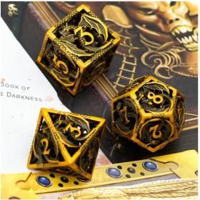 D4 Orange Dead Lands Dice set (Deadlands/Q-workshop)