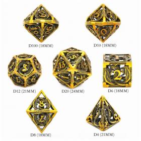 D20 Orange Dead Lands Dice set (Deadlands/Q-workshop)