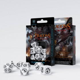 D6 BLEU/ACIER et BLANC (Gemini/Chessex)