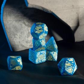 Grand sac à dés en suédine Couleur Bleu
