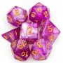 Glitter Dice - Purple - Gold - Udixi