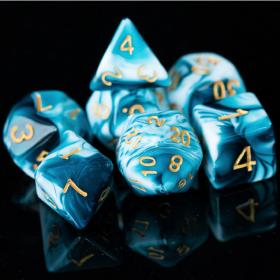 D8 NOIR/CUIVRE et BLANC (Gemini/Chessex)