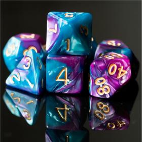 D12 NOIR/CUIVRE et BLANC (Gemini/Chessex)